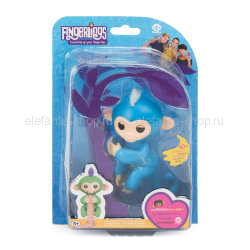 Обезьянка Fingerlings Monkey NO.3700-3706 синяя