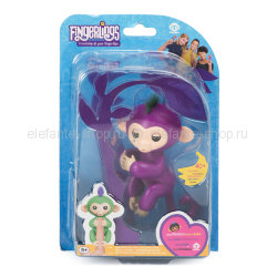Обезьянка Fingerlings Monkey NO.3700-3706 сиреневая