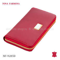 Кошелёк Nina Farmina #NF-9285B red лак