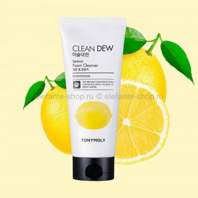 Пенка Tony Moly Clean Dew LEMON Foam Cleanser (125)