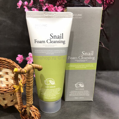 Пенка для умывания 3W Clinic Snail Foam Cleansing Anti-Sebum (78)