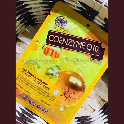 Тканевая маска May Island Real Essence Mask Pack Coenzyme Q10 (125)