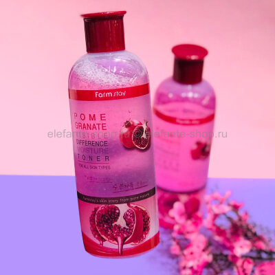 Тонер с экстрактом граната FarmStay Visible Difference Moisture Toner Pomegranate, 350 ml (78)