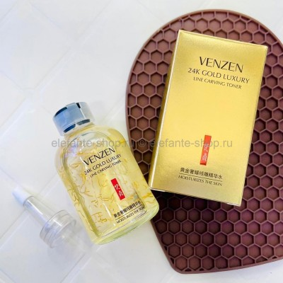 Тонер для лица Venzen 24K Gold Luxury Line Carving Toner, 50 мл