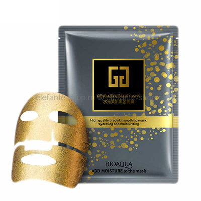 ЛИФТИНГ-МАСКА ИЗ ЗОЛОТОЙ ФОЛЬГИ С ГИАЛУРОНОВОЙ КИСЛОТОЙ BIOAQUA GOLD ABOVE BEAUTY MASK