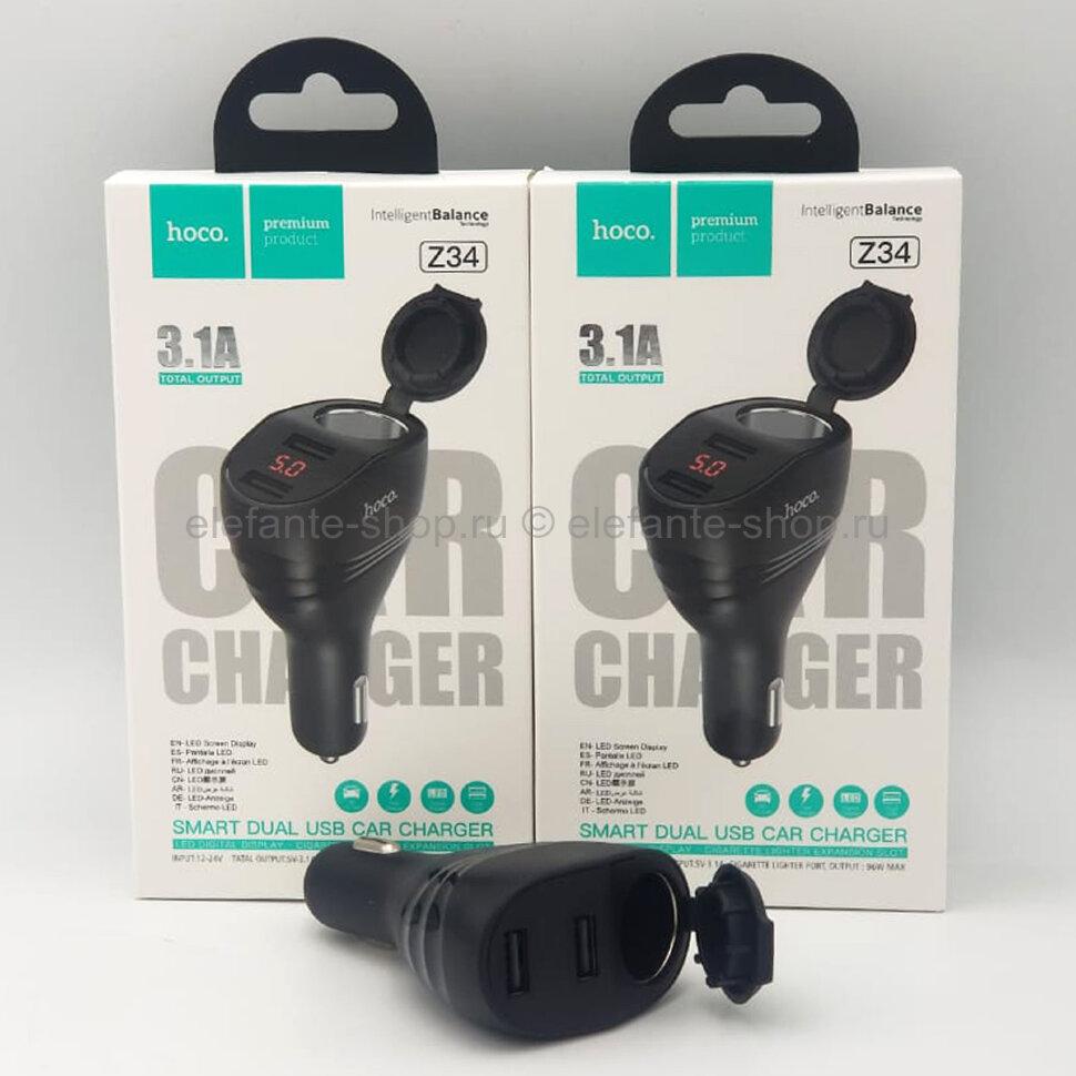 Автомобильное зарядное устройство hoco Z34 2 Usb 3.1A Black (15)