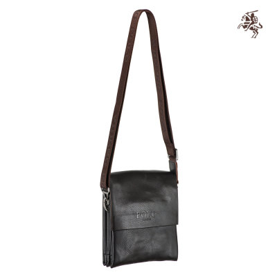"Сумка мужская ""POLO VIDENG"" #1918BR dark brown"