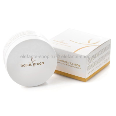 Патчи BeauuGreen Anti-Wrinkle Solution Collagen & Gold Hydrogel Eye Patch (125)