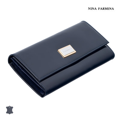 Кошелёк Nina Farmina #9280 dark blue лак