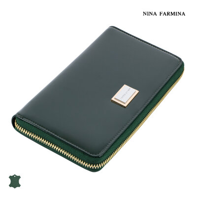 Кошелёк Nina Farmina #9285 dark green лак