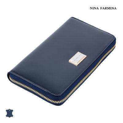 Кошелёк Nina Farmina #9285 dark blue лак