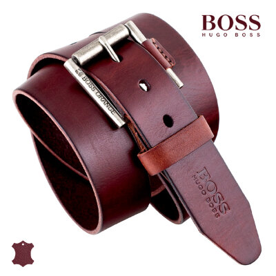 Ремень HUGO BOSS #HB02 burgundy