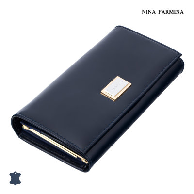 Кошелёк Nina Farmina NF-9281 dark blue лак