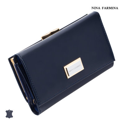 Кошелёк Nina Farmina #9282 dark blue лак